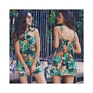 NWT Zara Floral Tropical Romper